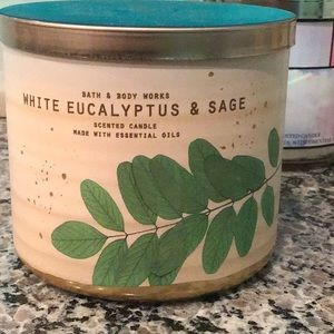 Bbw white eucalyptus and sage candle